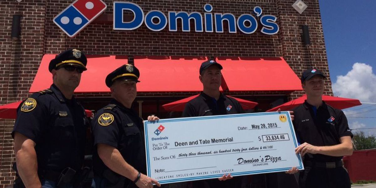 Domino's delivers big for fallen HPD officers