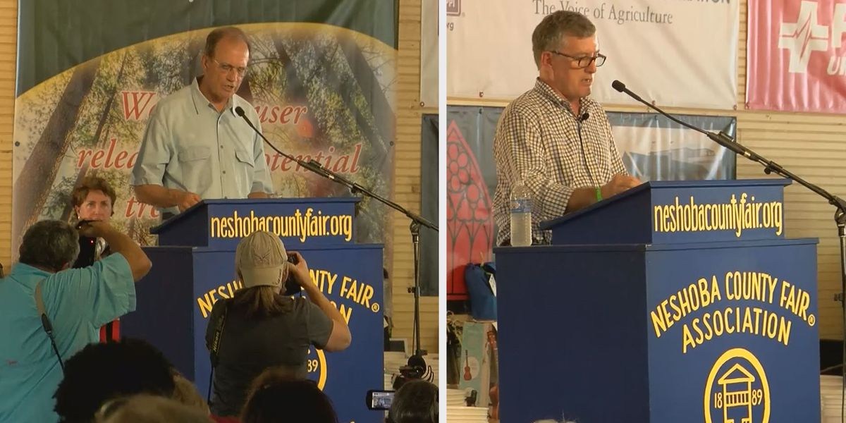 Lt. Governor candidates make their pitches to voters at the Neshoba County Fair