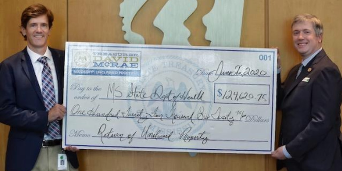 State Treasurer returns almost $125K in unclaimed property to MSDH