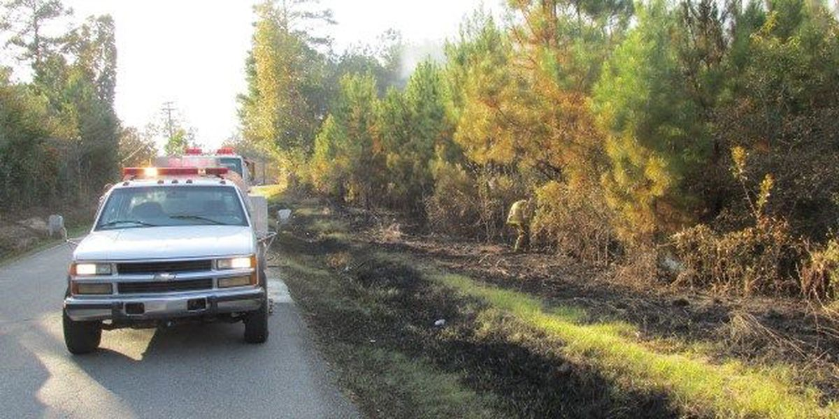 Jones County fire officials respond to large brush fire, two wrecks