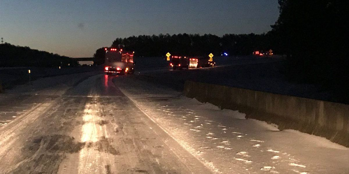 HAPPENING NOW: Multiple 18-wheelers stuck on U.S. 98 east on ramp