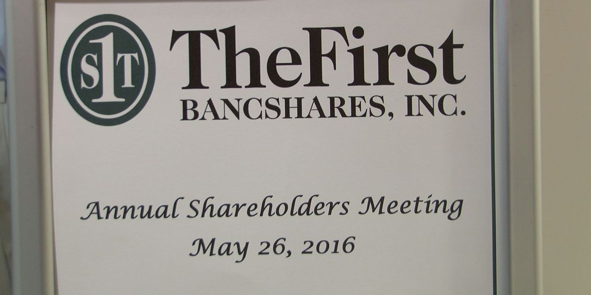 The First bank holds annual shareholder meeting