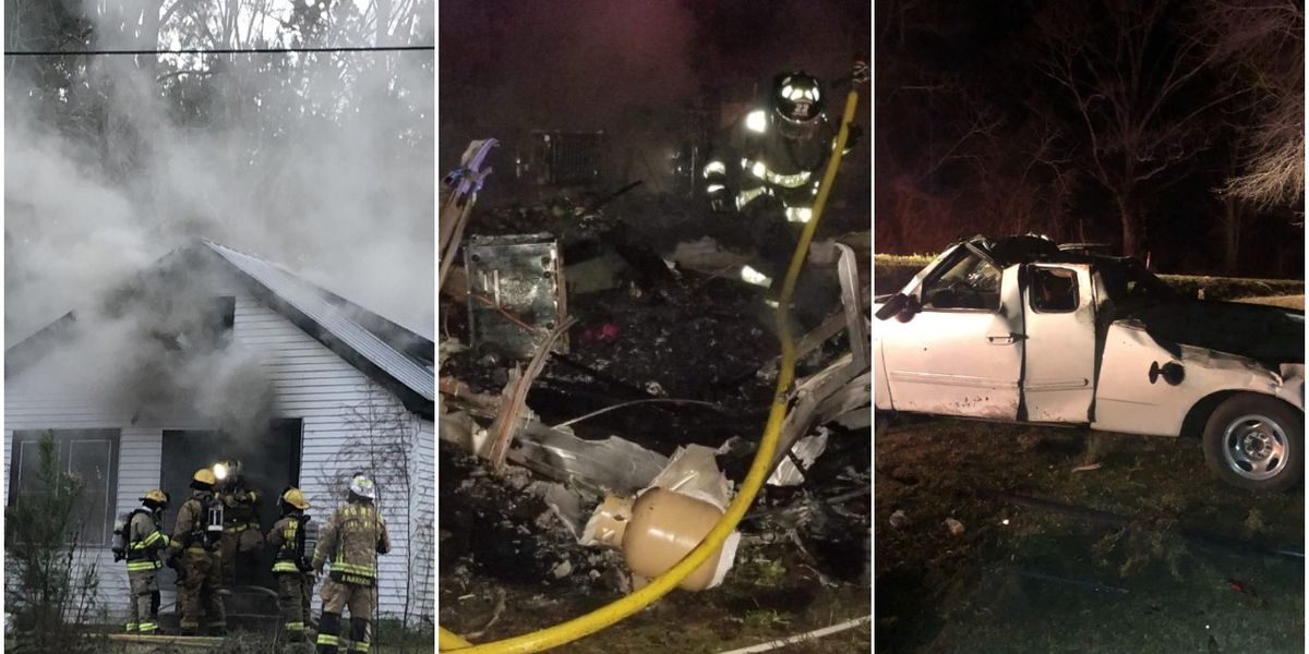Two structure fires and motor vehicle wreck in Jones Co. Friday and Saturday