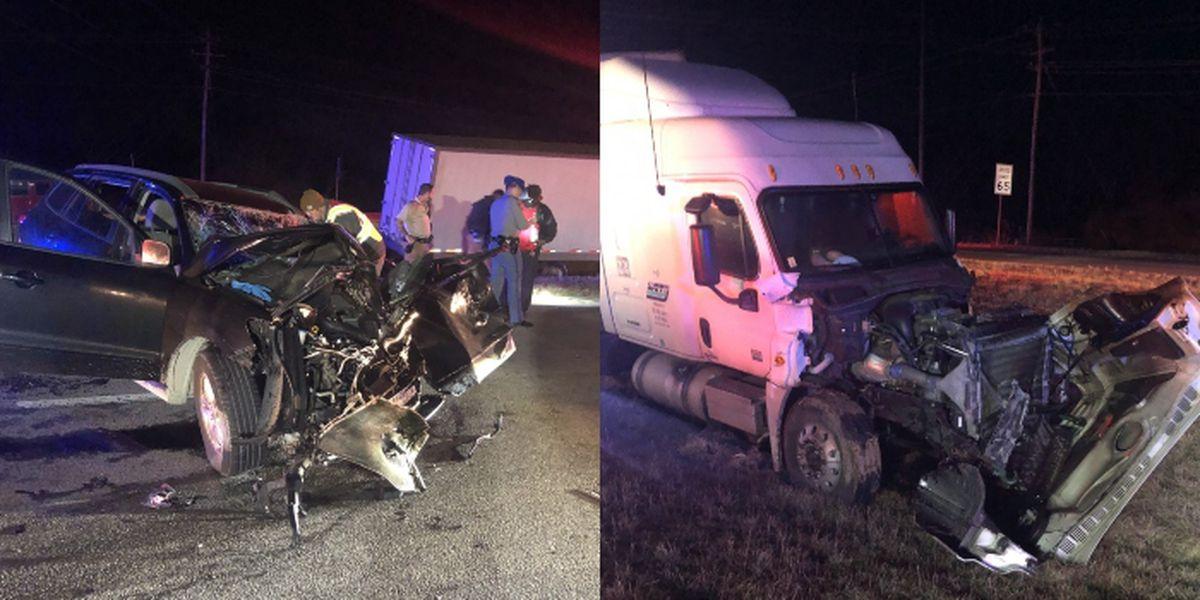 Car collided head-on with 18-wheeler in Calhoun Tuesday night