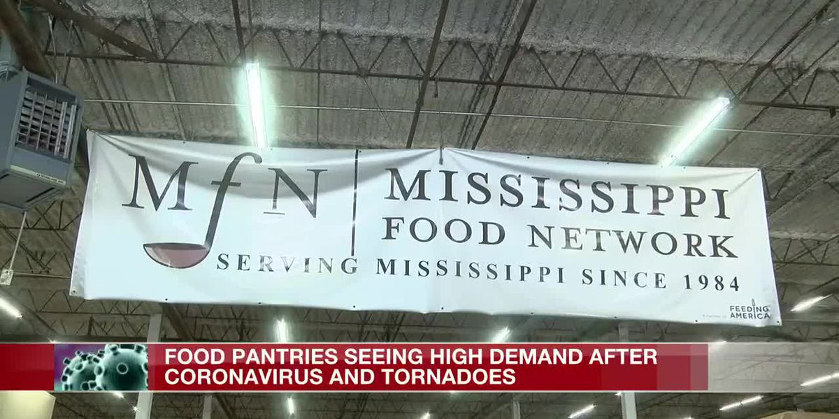 Miss. food banks see increased demand during pandemic, tornado aftermath