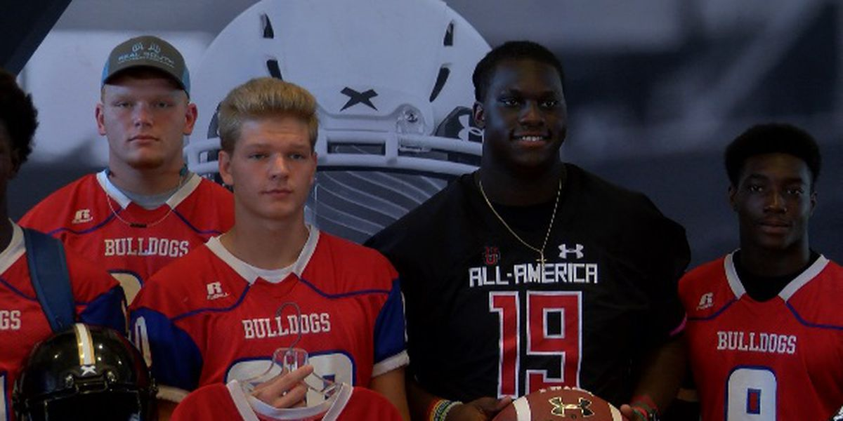 Seminary's Nathan Pickering receives Under-Armour All-American jersey
