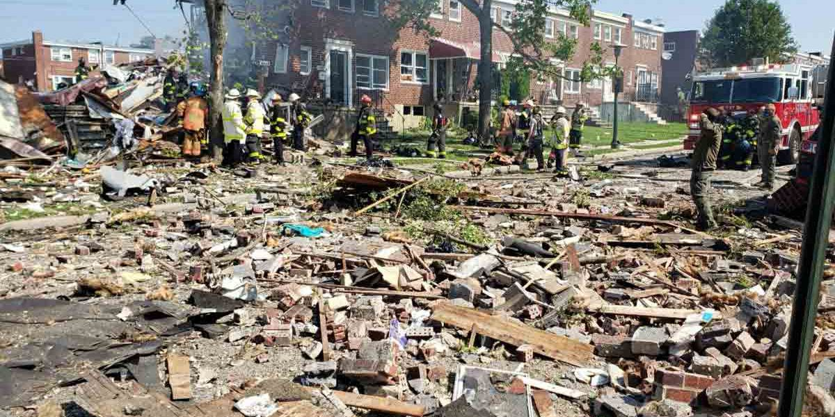 1 dead, 6 rescued after gas explosion levels Baltimore homes